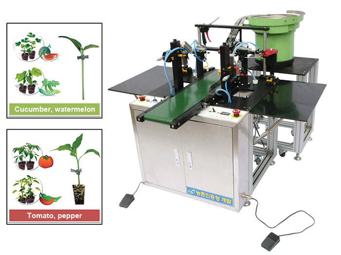he Grafting robot for vegetables and fruits